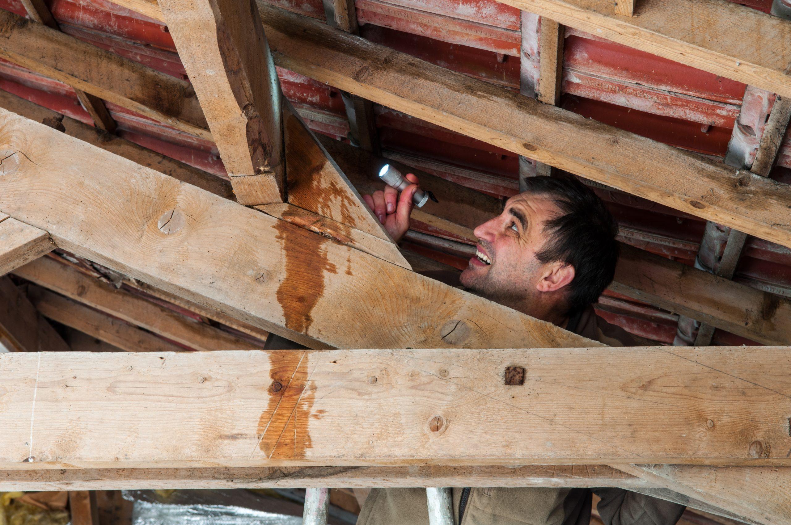 Leckortung am Dachstuhl